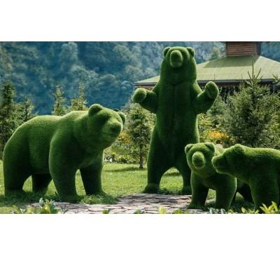 Ландшафтные фигуры из травы