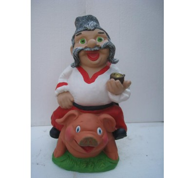 Козак на свинье